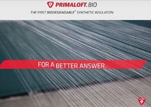完全使用回收材料制成可自然降解的 Primaloft Bio 面世