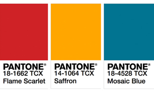 Pantone 2020色彩流行趨勢!火焰猩紅、馬賽克藍、番紅花黃等16種春夏流行顏色