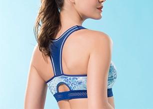 【華歌爾】專業系列C-E罩杯無鋼圈M-3L運動胸罩(印花紅)背心式